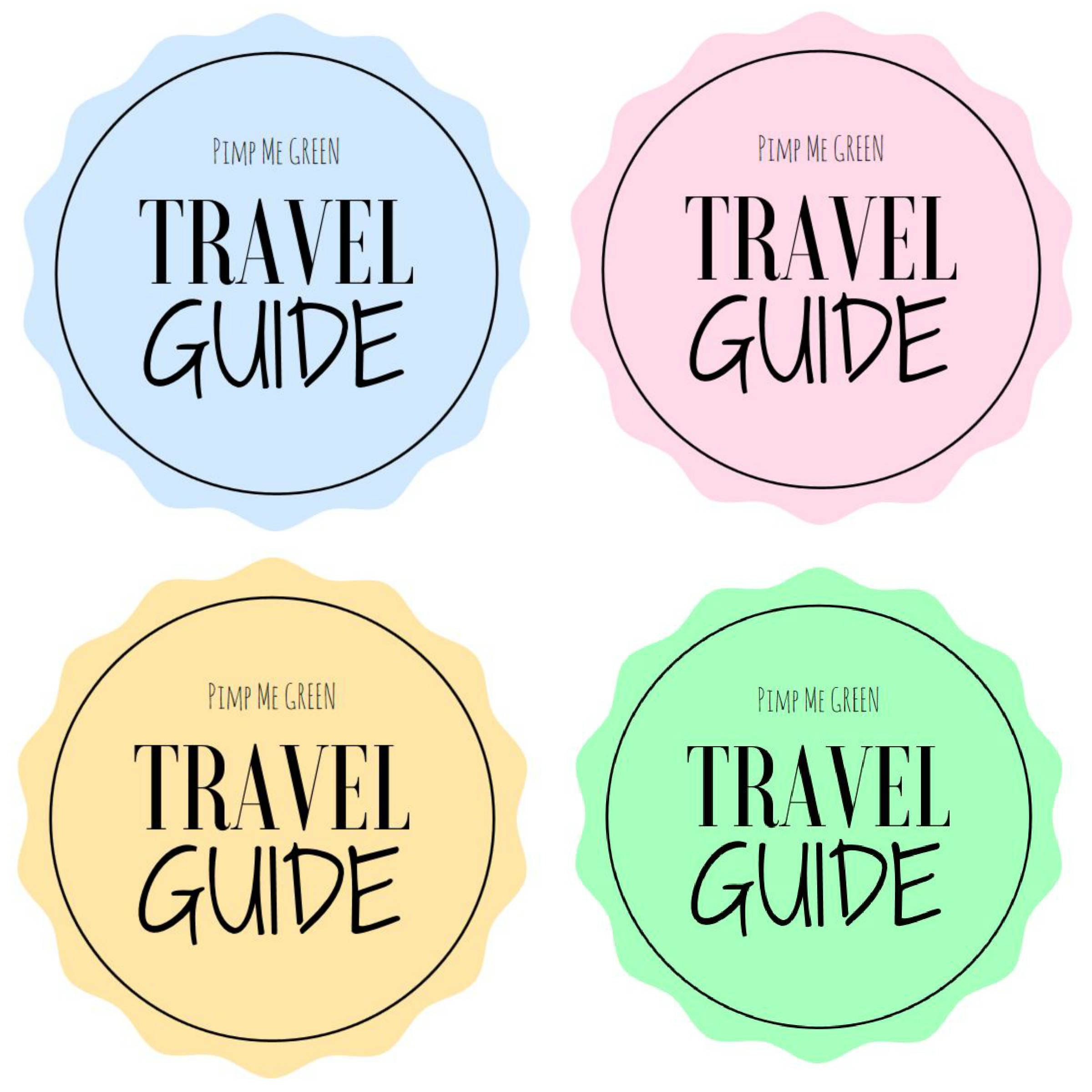 Collage travel guide