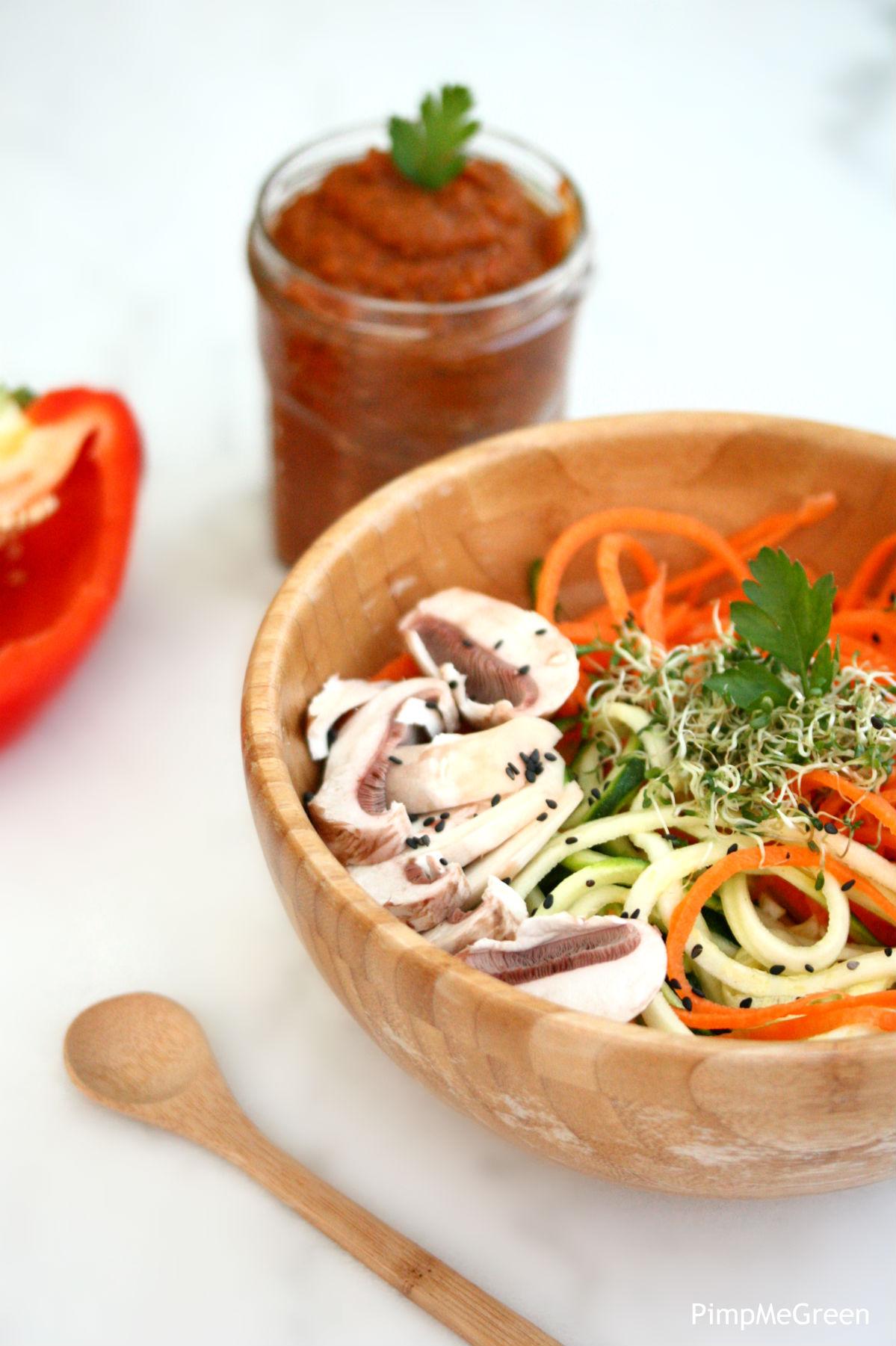 sauce tomate crue salade PMG