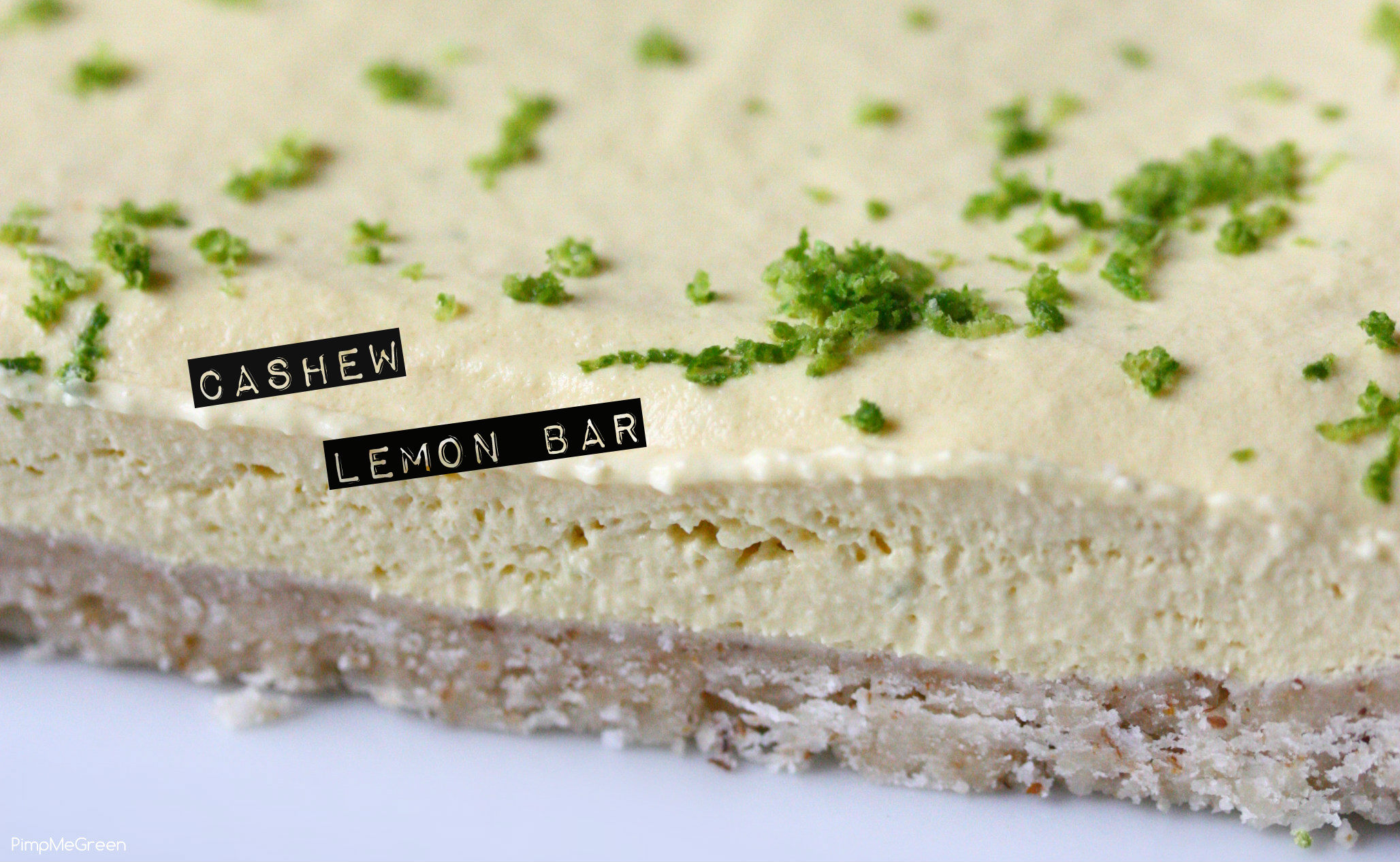 Cashew lemon bar titled pmg