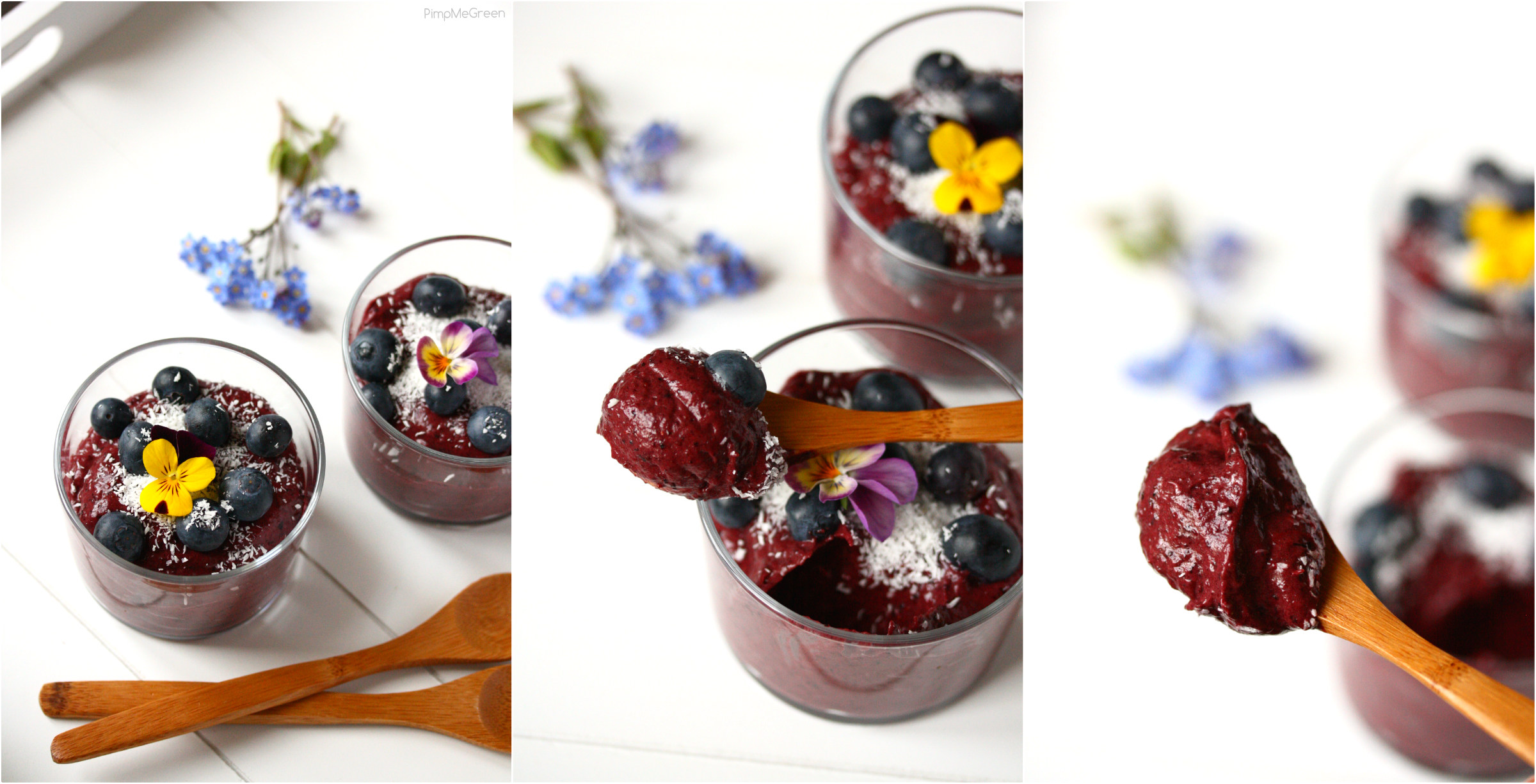 Blueberry cream dessert COLLAGE PMG BIS