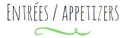 Titre - Entree Appetizer BIS V2
