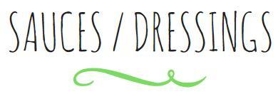 Titre - Sauces Dressings V2