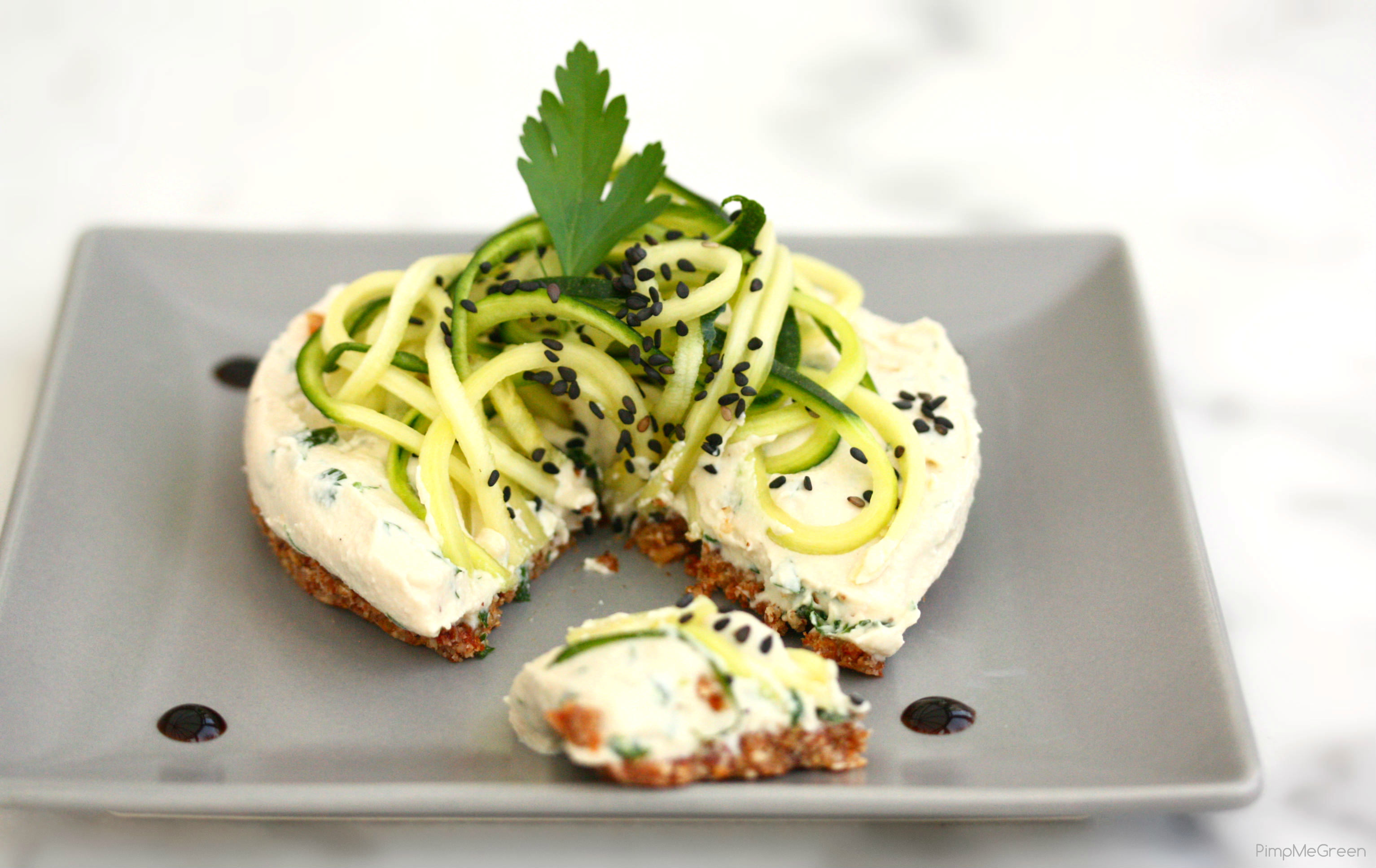 Cheesecake courgette cru PMG2