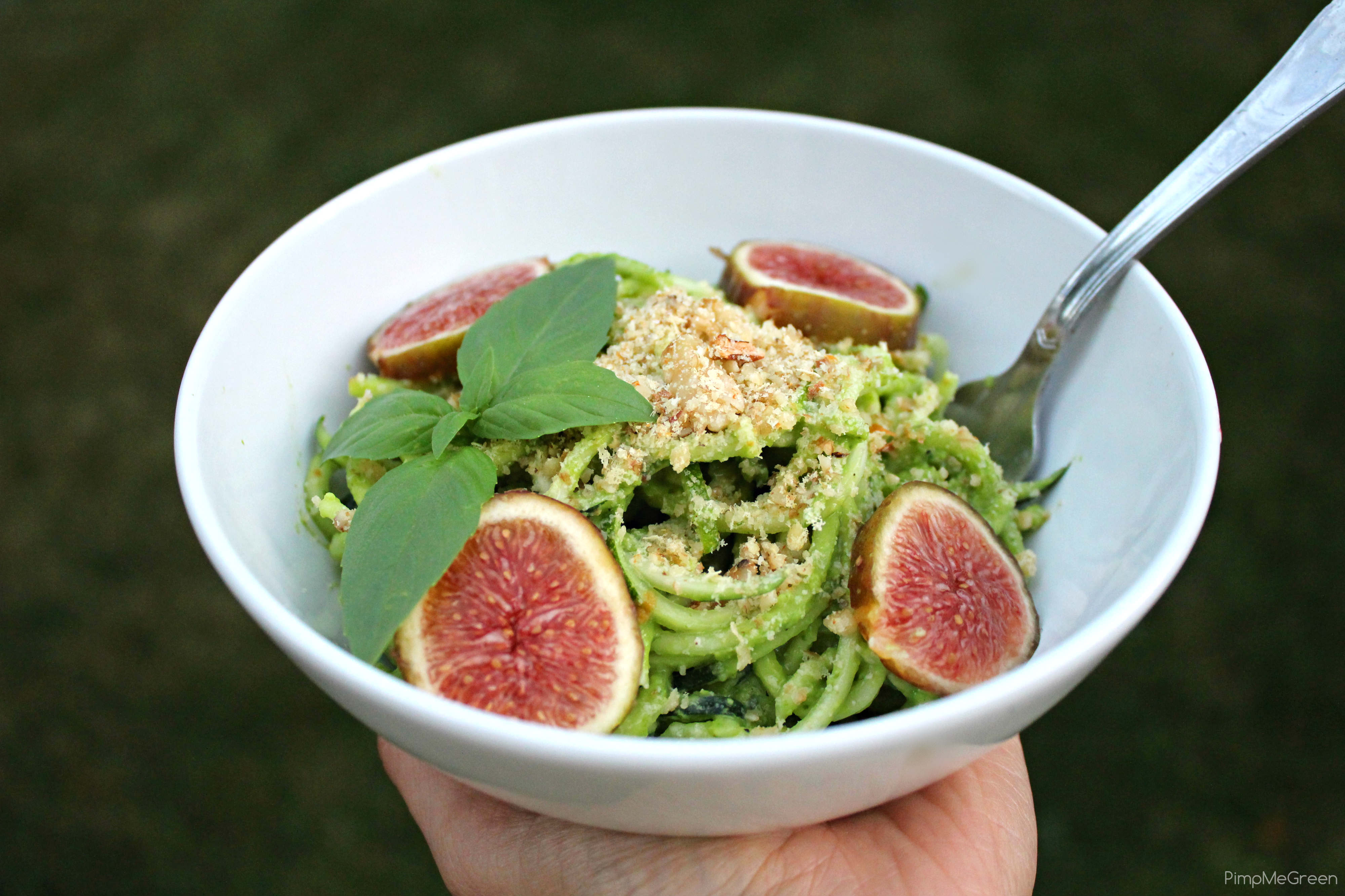 zucchini spaghetti dish titled