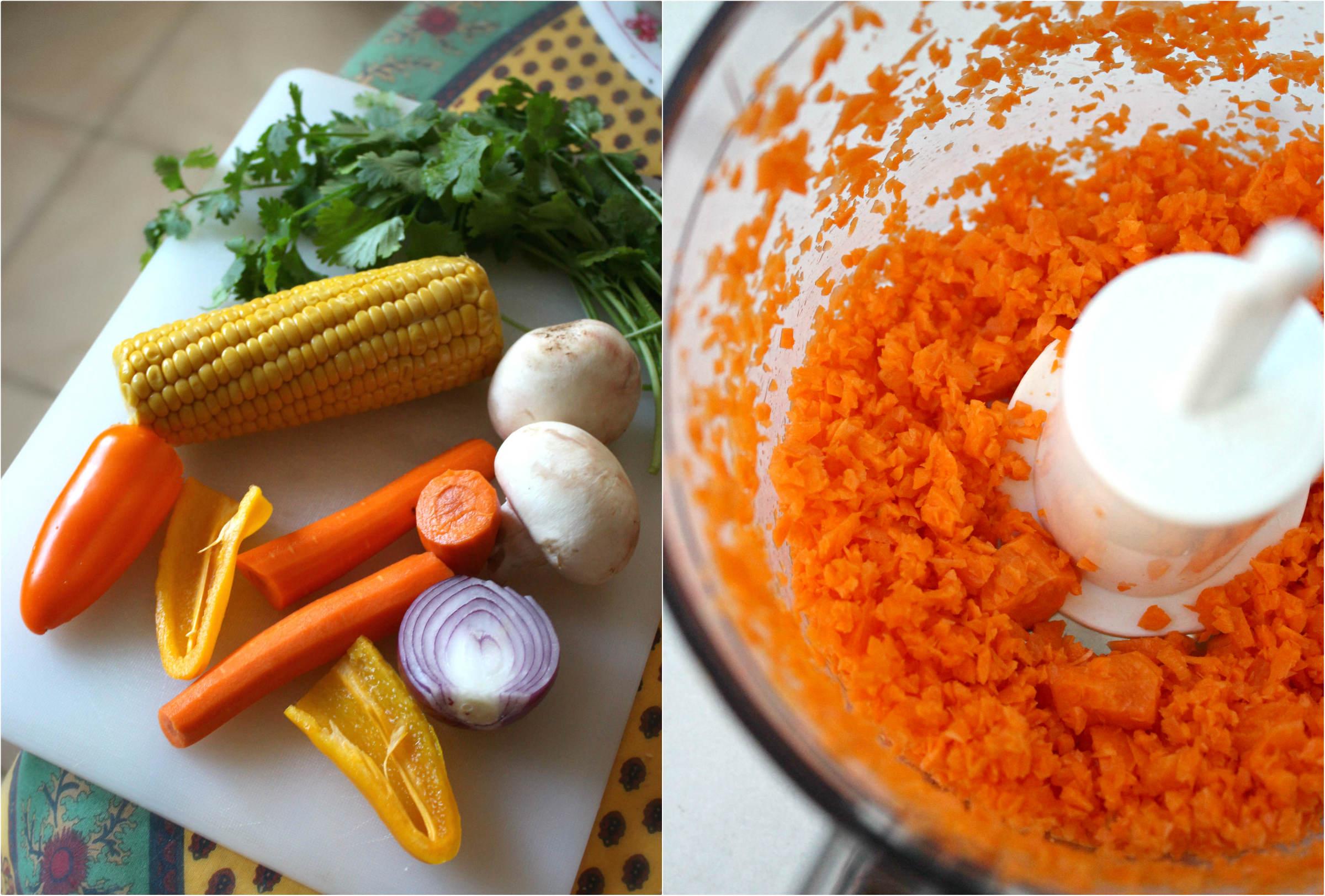 Collage semoule carotte