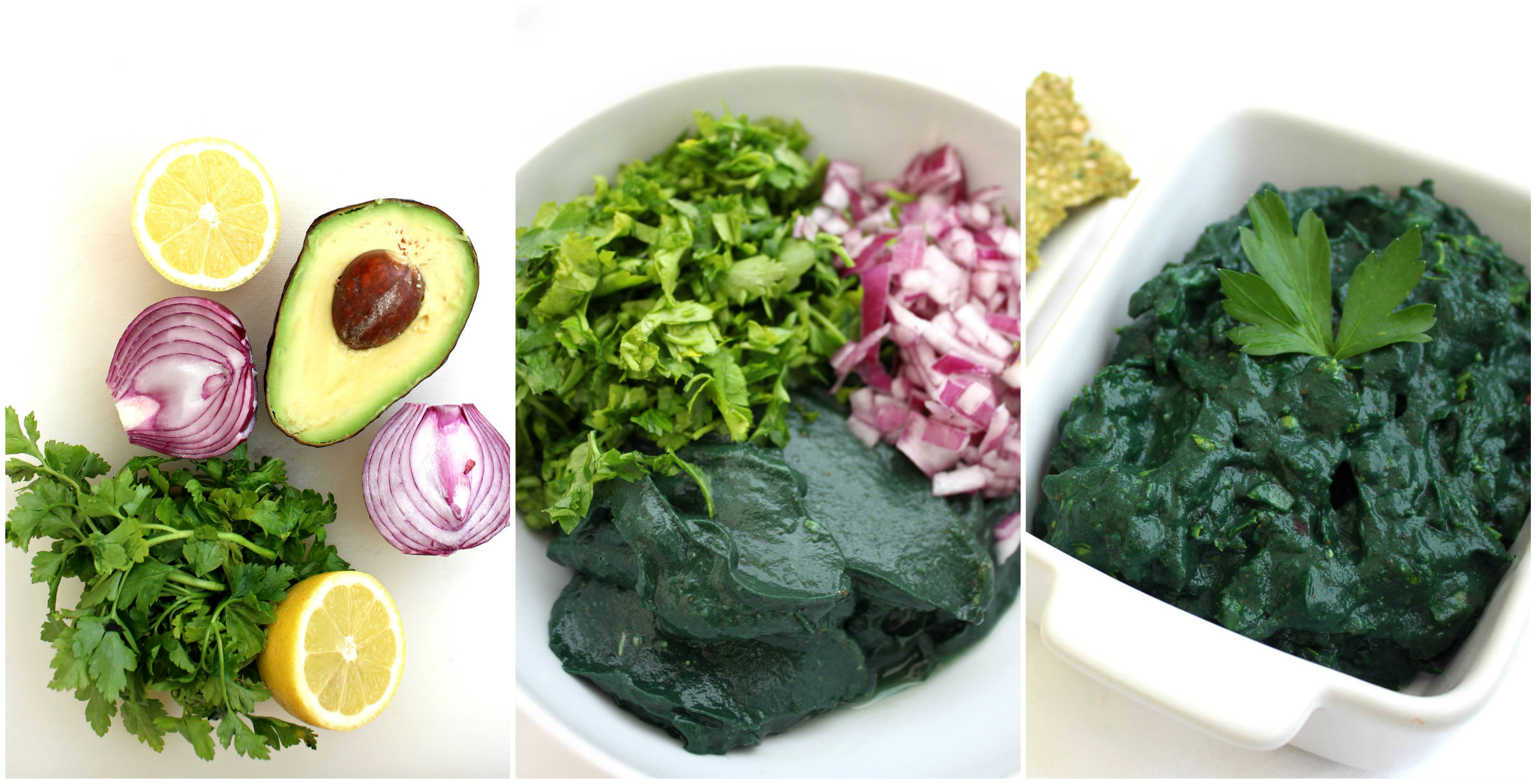 Collage Guacamole spiruline