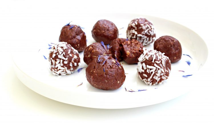 Brownie ball à la cacahuète crue végétale raw food