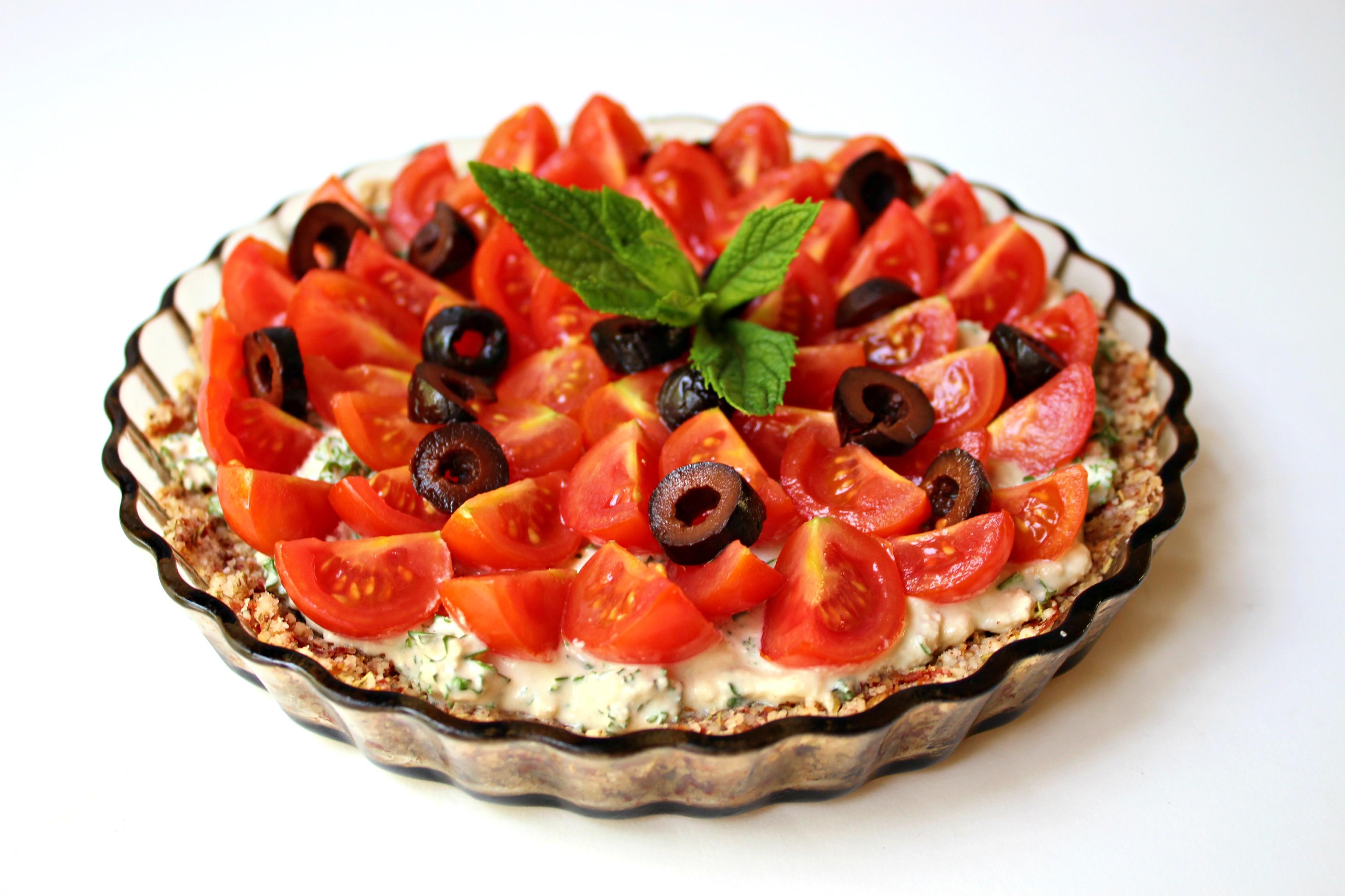 Tarte à la tomate sans cuisson
