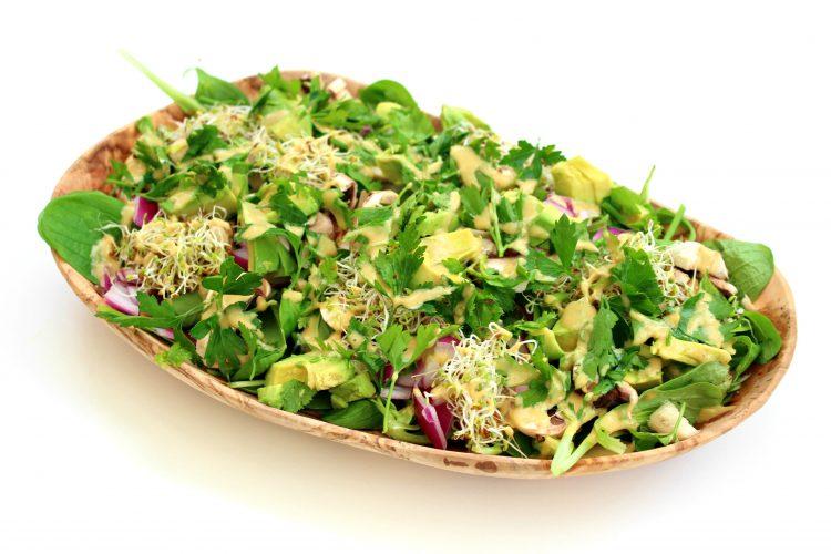salade verdure sauce sésame